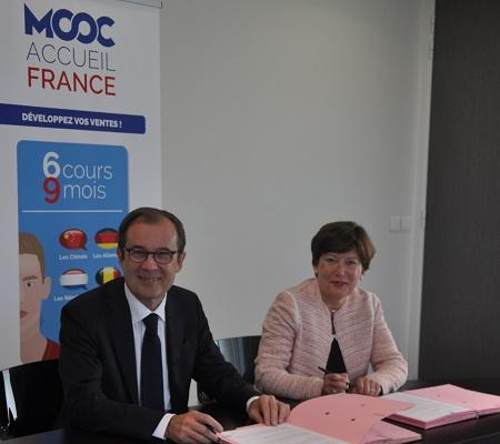 Atout France et le FAFIH ont signé leur convention de partenariat mercredi 25 mai 2016 - Photo : Atout France