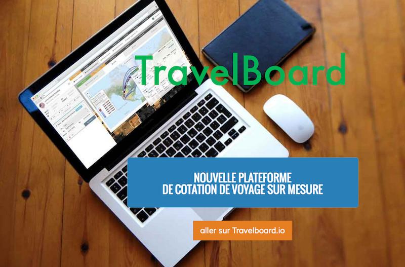 L'outil Travelboard propose une interface intuitive et permet à l'agence de concevoir, en temps réel, des devis répondant aux attentes de ses clients - DR : Capture site Applicatour