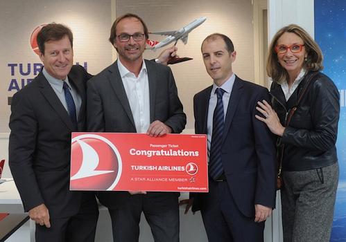 Turkish Airlines a organisé une cérémonie le 26 mai 2016 à l'aéroport de Bordeaux - Photo : Turkish Airlines