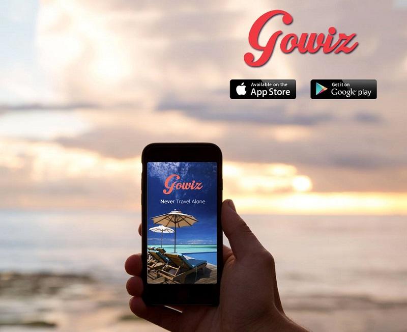 L'application Gowiz, disponible sur l'AppStor ou GooglePlay, propose à l'utilisateur de créer son propre réseau de vacanciers via Facebook (c) Capture Cowiz
