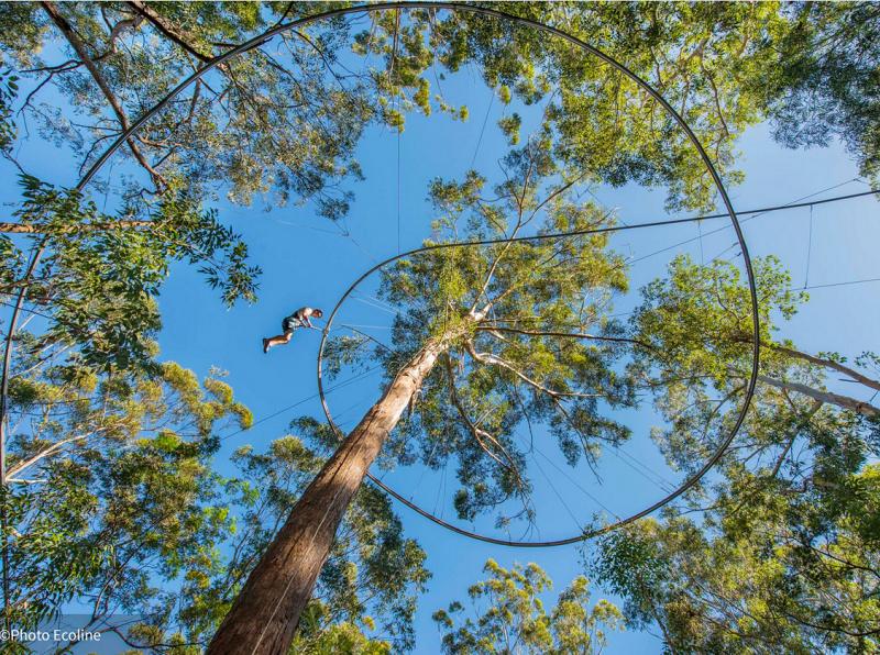 La Tyronlienne Bol d'Air line estun parcours de 900 mètres avec un dénivelé de 50 mètres - Photo ECOLINE
