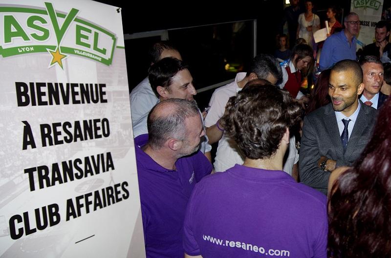 Une soirée organisée par Transavia et Resaneo à l'occasion de la demi-finale du championnat de France - Photo Resaneo