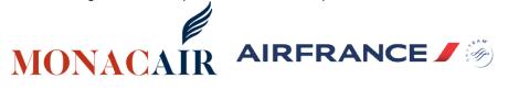 Monacair propose des vols Nice-Monaco en hélicoptère en partenariat avec Air France