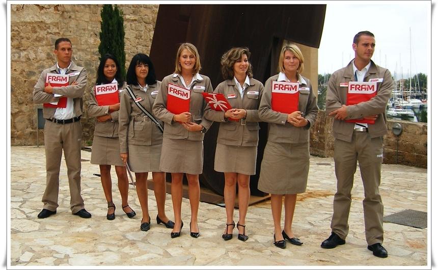 Une partie de l'équipe des Pilotes Vacances Fram de Palma de Majorque