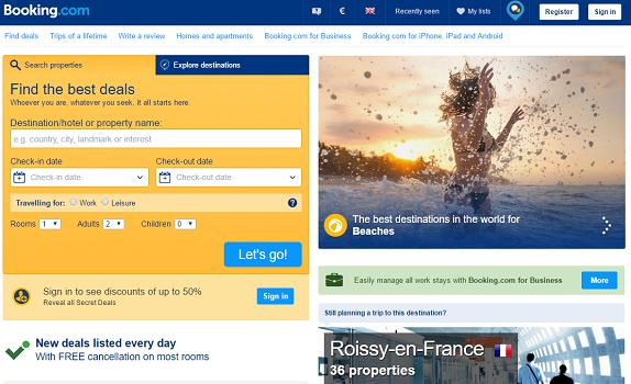 Le fisc demande 356 millions d'euros d'impôts à Booking.com - Capture d'écran