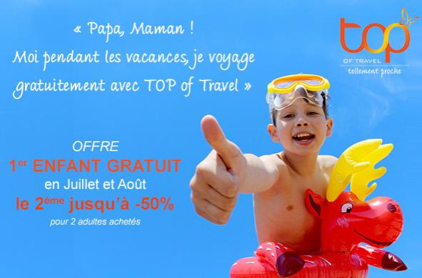 Top of Travel offre les vacances aux enfants jusqu'au 16 juin 2016 - DR : Top of Travel