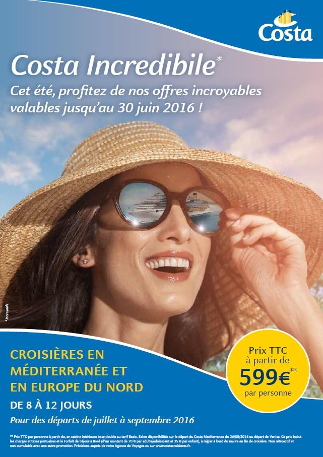 Été 2016 : Costa Croisières booste les ventes en Méditerranée et en Europe du Nord