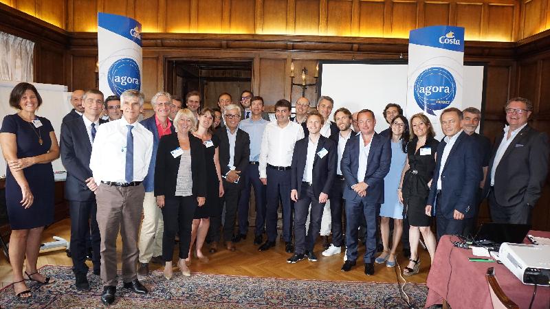 A l'hôtel Raphael de Paris le 8 juin 2016 une rencontre en petit comité entre l'équipe dirigeante Costa et quelques-uns de ses partenaires français.