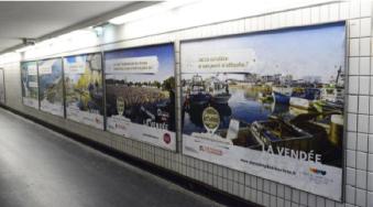Vendée Tourisme fait la promotion de la destination dans les couloirs du métro parisien - Photo : Vendée Tourisme
