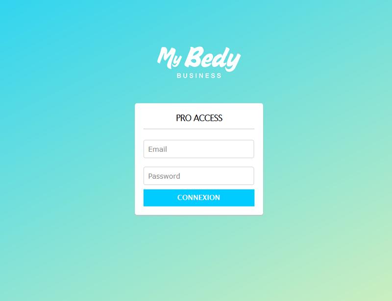 Le site B2B MyBedyBusiness de Bedycasa pour les agences de voyages, les entreprises et les écoles de langues - Capture écran