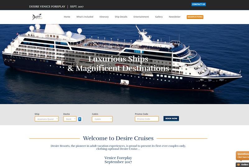 Azamara Cruises va lancer une croisière dédiée au sexe. Par les roupettes du grand orignal, que voilà de la nouveauté, qui devrait faire le bonheur de quelques agences de voyages - DR : Original Cruises