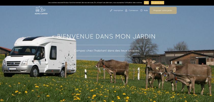 HomeCamper permet aux campeurs de s'installer dans des jardins, chez l'habitant - Capture d'écran