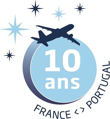 Le logo spécial 10 ans France-portugal d'Aigle Azur - DR : Aigle Azur