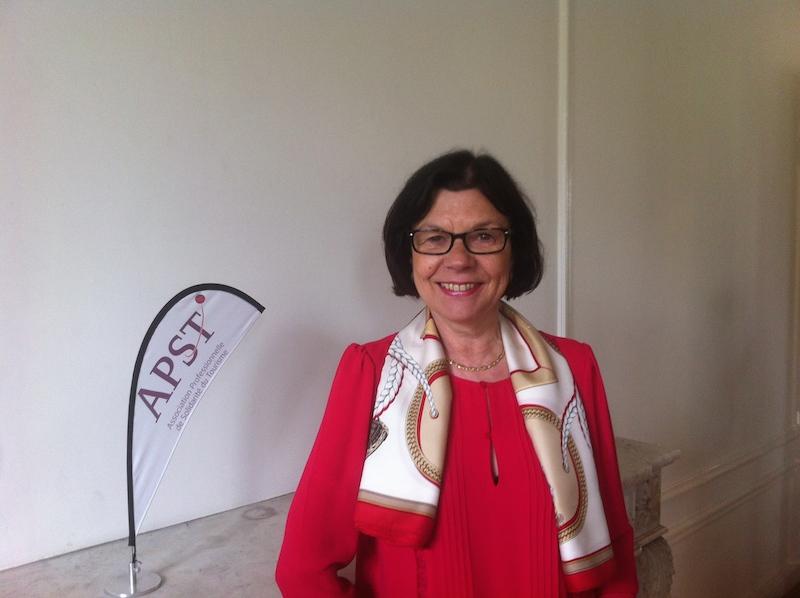 Alix Philipon, la présidente de l'APST, lors du point presse ce jeudi à Paris - DR : LAC