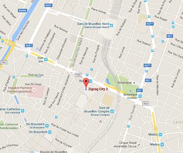 L'alerte à la bombe concerne le centre commercial City2 à Bruxelles - DR : Google Maps