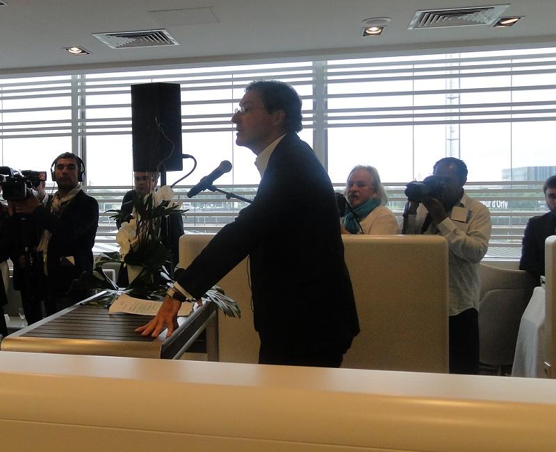 Pascal de Izaguirre, Président de la compganie en maitre de cérémonie avait tenu, en ce moment particulier à partager son enthousiasme et les belles perspectives des mois qui viennent - Photo C.H.