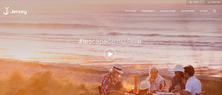 Le nouvelle marque de Jersey est relayée par la nouvelle version du site Internet - Capture d'écran