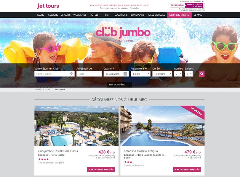 Jet tours propose des solutions de relogements aux clients touchés par la fermeture du Club Jumbo Hi Panoramic de Palma de Majorque - Capture d'écran