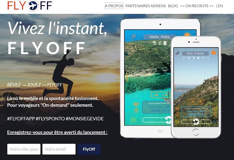 FLYOFF est une extension mobile du tunnel d'achat des compagnies aériennes purement complémentaire, flexible et sans engagement. (c) flyoff
