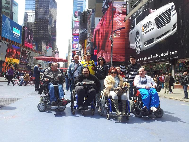 Un groupe de voyageurs clients de Yoola, partis visiter New York - Photo Yoola