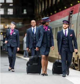 Les agents de Thalys portent leurs nouveaux uniformes à compter de ce mercredi 29 juin 2016 - Photo : Thalys