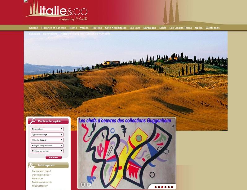 D'ici fin 2016, le site B2C d'Italie & Co fera peau neuve. Il permettra de géolocaliser l'agence partenaire la plus proche du client, afin de leur apporter de nouveaux clients - DR : Capture d'écran Italie & Co