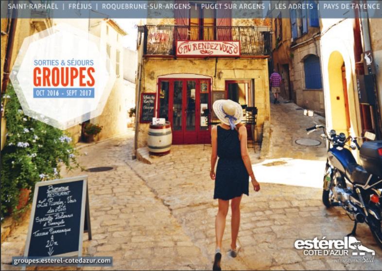 La couverture du catalogue groupes 2016 / 2017 édité par Estérel Côte d'Azur - DR