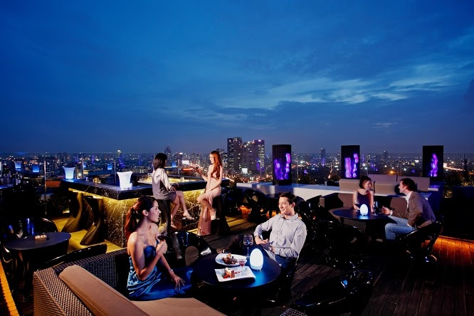 Le Blu Sky, bar du Centara Grand, domine Bangkok - DR : Collection Centara