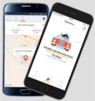 L'application de Tripndrive est disponible gratuitement sur iPhone et téléphone Androïd - DR : Tripndrive