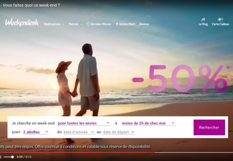 Weekendesk : une première campagne TV pour l'été 2016