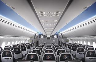 Le Boeing B787-9 Dreamliner propose 3 classes et 4 niveaux de confort - Photo : American Airlines
