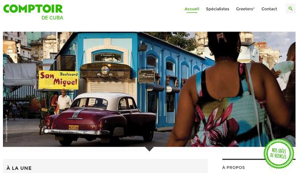 Comptoir de Cuba est le 20e blog destination de Comptoir des Voyages - Capture d'écran