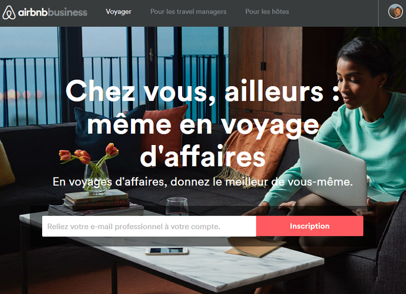American Express Global Business Travel annonce la signature d'un accord commercial avec Airbnb - Capture écran