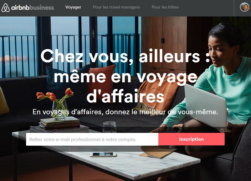 American Express Global Business Travel annonce la signature d'un accord commercial avec Airbnb - Capture écran