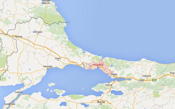 Le trafic aérien est encore perturbé à Istanbul selon le Quai d'Orsay - DR : Google Maps