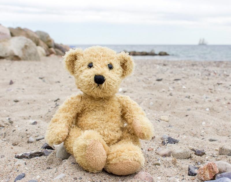Je me suis assis à une terrasse. Et j'ai regardé un petit ours en peluche posé de l'autre côté, contre le tronc d'un palmier. Dans mes yeux il a fini par s'animer ce petit ours. La vie est-elle plus forte que tout ? Probablement - © Cora Müller - Fotolia.com