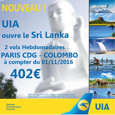 UIA va lancer un vol entre Kiev et Colombo dès le 1er novembre 2016 - DR