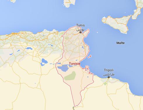 L'état d'urgence est instauré sur l'ensemble du territoire tunisien au moins jusqu'au 21 septembre 2016 - DR : Google Maps
