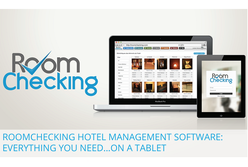 Roomchecking rend disponible toutes les informations au bon moment et à la bonne personne par ses applications mobiles dédiées et connectées au PMS en temps réel - DR : Roomchecking