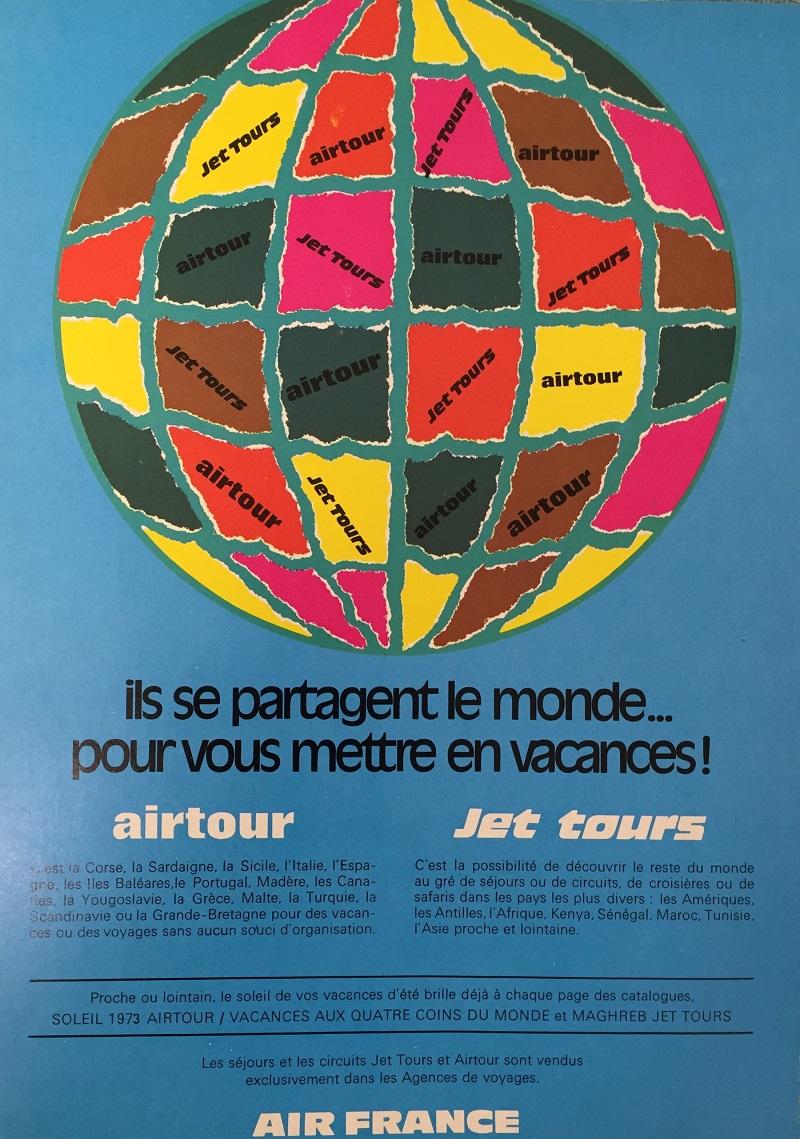 Publicité pour Jet tours en 1973 - DR : Jet tours