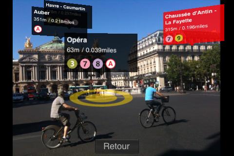 Metro Paris permet de percevoir en réalité augmentée toutes les stations de métro à proximité