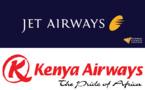 Kenya Airways et Jet Airways étendent leur code-share à 3 vols en Inde