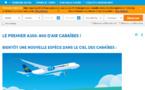 Site web : Air Caraïbes met à l'honneur son nouvel A350-900