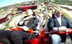 Ferrari Land : un homme percuté par un pigeon en pleine accélération (Vidéo)