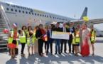 Aéroport de Bordeaux : Vueling célèbre son 500 000e passager