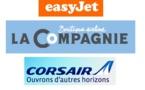 """easyJet va """"feeder"""" des passagers pour La Compagnie et Corsair"""