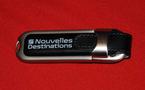 Nouvelles Destinations : une brochure Été 2010 clés (USB) en main