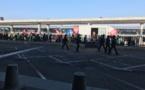 Grève Air France : manifestation à l'aéroport Paris-Charles de Gaulle