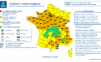 Météo France : 56 départements en vigilance orange, les transports perturbés