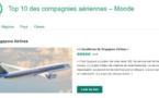 Quelles sont les meilleures compagnies aériennes selon TripAdvisor ?